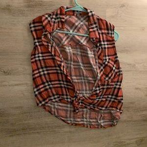 Flannel croptop